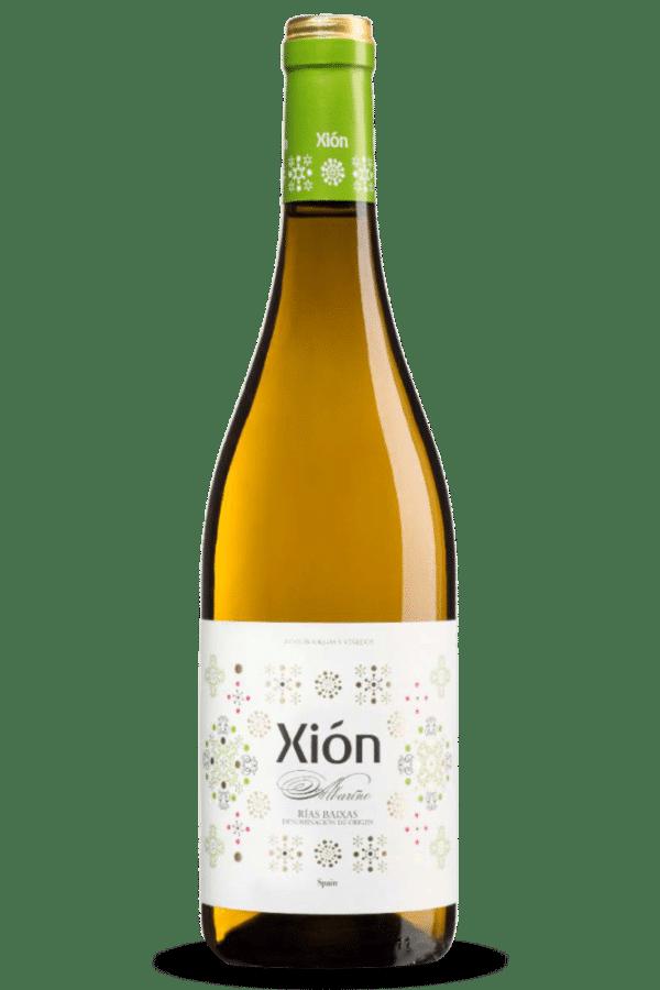 botella de vino xión albariño
