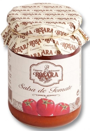 01309 conservas artesanas gourmet salsa tomate tarro 250 gramos rosara