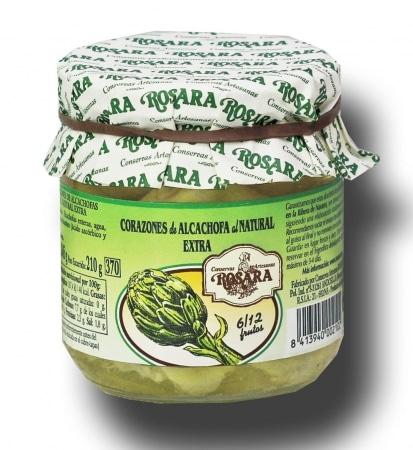 04009 conservas artesanas gourmet alcachofa corazones tarro medio kilo rosara