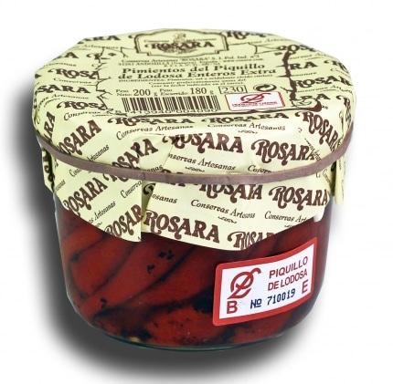 04610 conservas artesanas gourmet pimiento del piquillo do entero extra tarro 250 gramos rosara