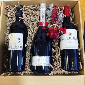caja de vino rioja, albariño y ribera del duero