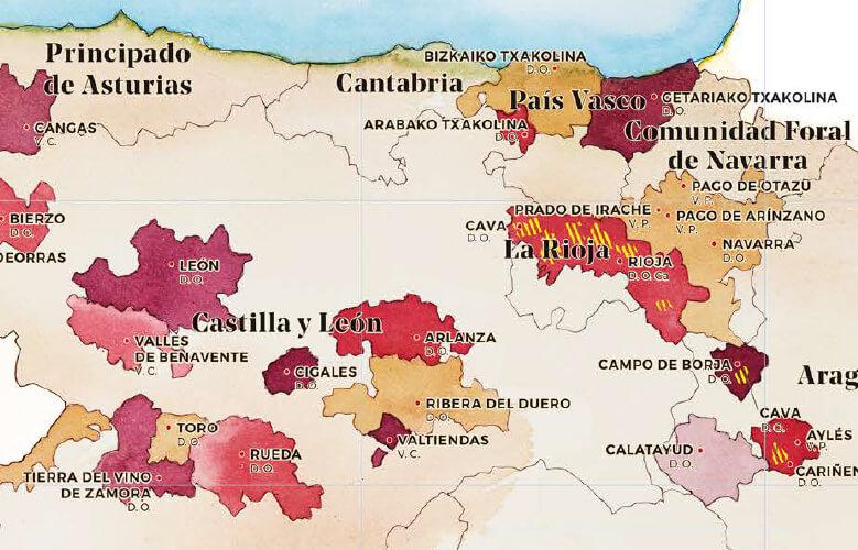 mapa de los vinos de espana cortado castilla leon